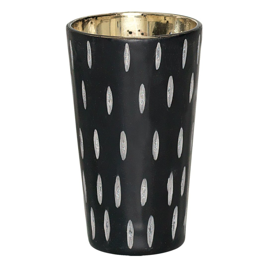 GreenGate Windlicht tealight black cutting L