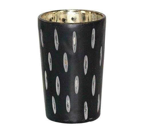 GreenGate Windlicht tealight  black cutting LM