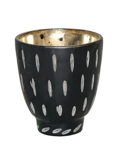 GreenGate Windlicht tealight black cutting S