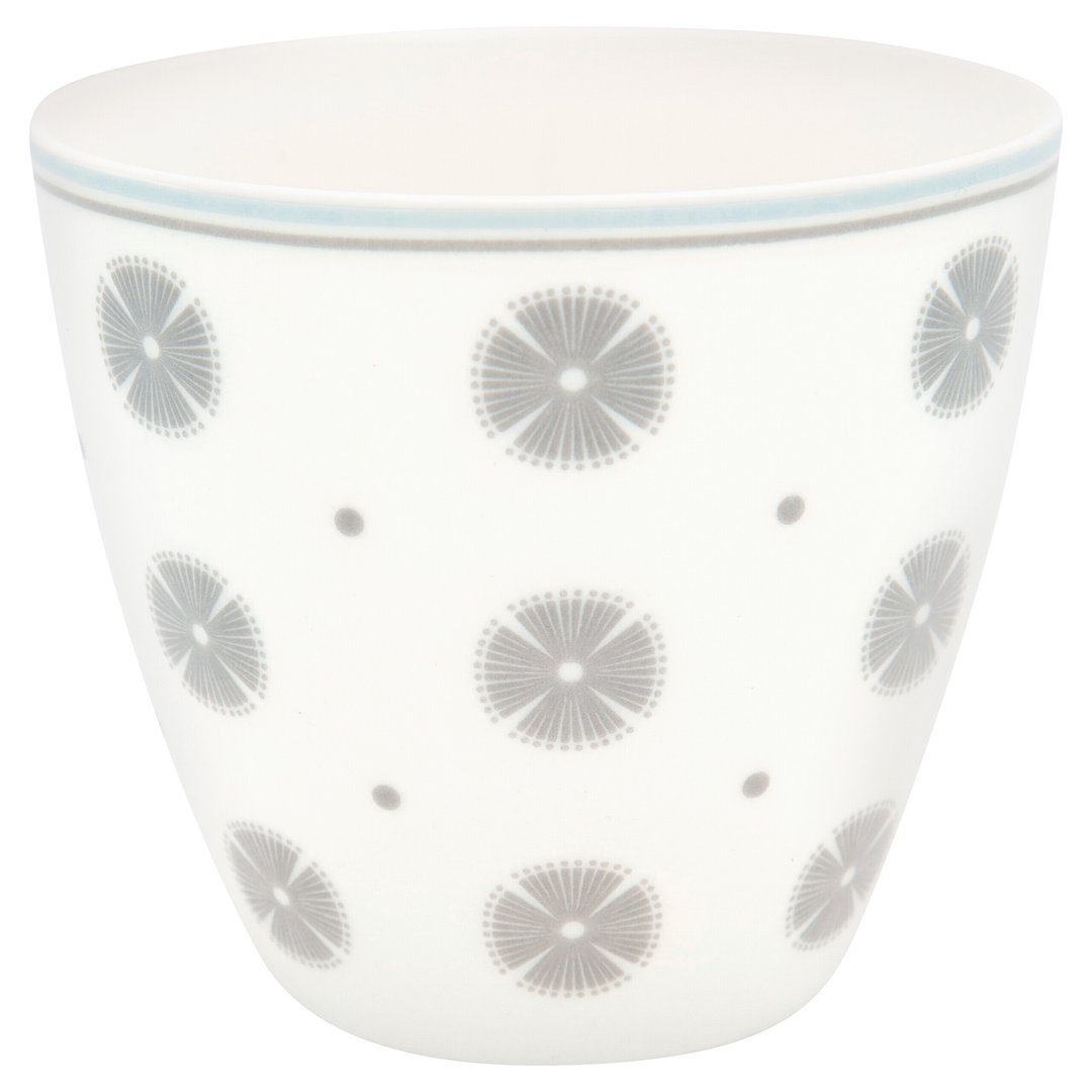 GreenGate Latte Cup Becher Saga white
